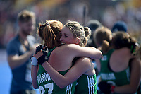 Ireland's Zoe Wilson emotional after her team getting into the final <br /> Photographer Hannah Fountain/CameraSport<br /> <br /> Vitality Hockey Women's World Cup - Ireland v Spain - Saturday 4th August 2018 - Lee Valley Hockey and Tennis Centre - Stratford<br /> <br /> World Copyright &copy; 2018 CameraSport. All rights reserved. 43 Linden Ave. Countesthorpe. Leicester. England. LE8 5PG - Tel: +44 (0) 116 277 4147 - admin@camerasport.com - www.camerasport.com