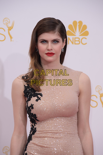 Alexandra Daddario attends The 66th Primetime Emmy Awards held at Nokia Live in Los Angeles, California on August 25,2014                                                                               &copy; 2014 Hollywood Press Agency<br /> CAP/DVS<br /> &copy;DVS/Capital Pictures