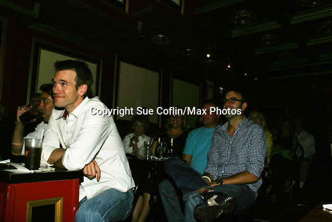 """Adam Mayfield and Ron Carlivati - One Life To Live's Ilene Kristen """"Roxy"""" performs her show on her birthday, July 30, 2009 at The Triad, New York City, New York before actors, friends, fans and family. (Photo by Sue Coflin/Max Photos)"""