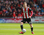 Lee Evans of Sheffield Utd during the championship match at the Bramall Lane Stadium, Sheffield. Picture date 14th April 2018. Picture credit should read: Simon Bellis/Sportimage