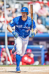 6 March 2019: Toronto Blue Jays outfielder Randal Grichuk in action during a Spring Training game against the Philadelphia Phillies at Dunedin Stadium in Dunedin, Florida. The Blue Jays defeated the Phillies 9-7 in Grapefruit League play. Mandatory Credit: Ed Wolfstein Photo *** RAW (NEF) Image File Available ***