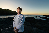 Melbourne, March 28, 2018 - Laura Skvor poses for a photograph at Flinders, Victoria ahead of competing at the Bocuse d'Or Asia Pacific in Guangzhou, China. Photo Sydney Low.
