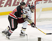 Yale Lewis, Brian Boyle - The Boston College Eagles defeated Northeastern University Huskies 5-3 on Saturday, November 19, 2005, at Kelley Rink in Conte Forum at Chestnut Hill, MA.