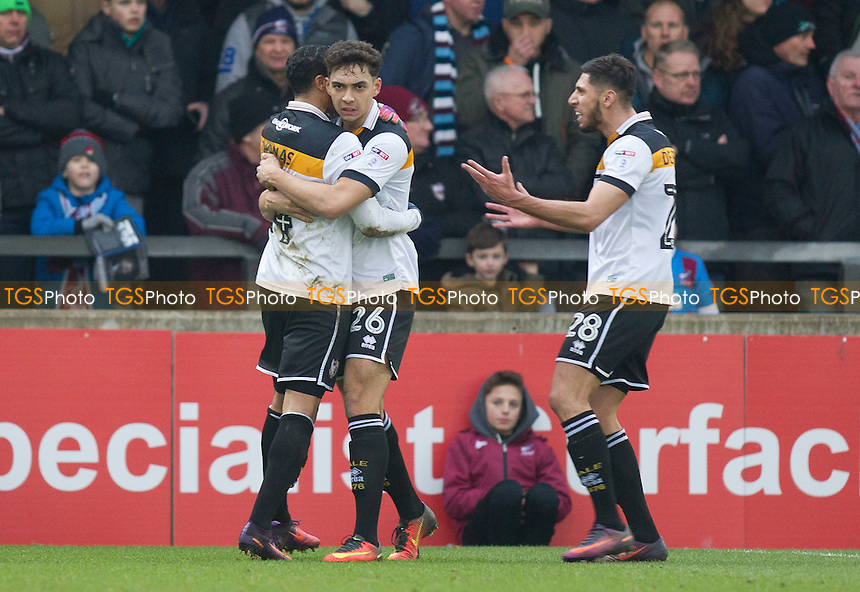 Tyler Walker of Port Vale - scorer of PV's first during Scunthorpe United vs Port Vale, Sky Bet EFL League 1 Football at Glanford Park on 28th January 2017
