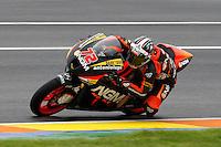 11.11.2012 SPAIN GP Generali de la Comunitat Valenciana Moto 2  Race. The picture show Yuki Takahashi (Japanese rider Forward Racing SUTER)