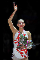 September 23, 2011; Montpellier, France;  All-Around gold medal winner is EVGENIYA KANAEVA of Russia at 2011 World Championships.