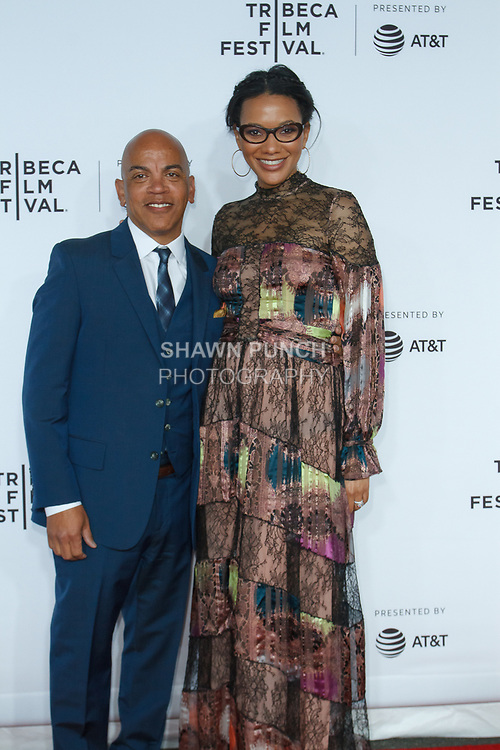 "Rickey Minor and Rachel Collins arrive at the Clive Davis: ""The Soundtrack Of Our Lives"" world premiere for the Opening Night of the 2017 TriBeCa Film Festival on April 19, 2017 at Radio City Music Hall."