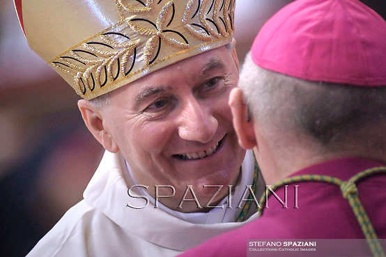 Archbishop Pietro Parolin,Pope Francis named Archbishop Pietro Parolin to succeed Cardinal Tarcisio Bertone as the Holy See's Secretary of State.<br /> Pope Benedict XVI attends the ordination ceremony of five new bishops at St Peter's Basilica at the Vatican on September 12, 2009