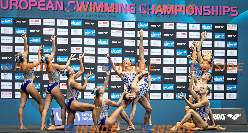 Italy ITA<br /> Synchro Free Combination Final<br /> 32nd LEN European Championships <br /> Berlin, Germany 2014  Aug.13 th - Aug. 24 th<br /> Day05 - Aug. 17<br /> Photo P. Mesiano/Deepbluemedia/Inside