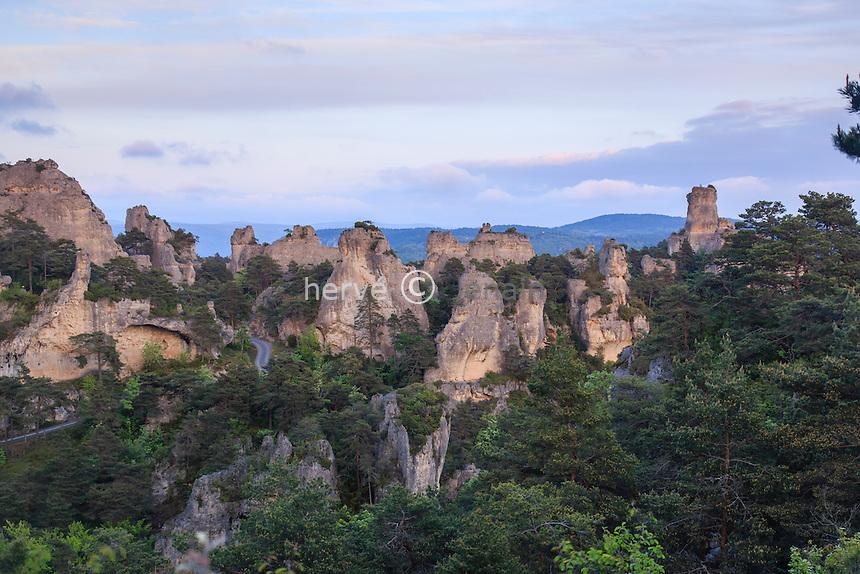 France, Aveyron (12), la Roque-Sainte-Marguerite, chaos de Montpellier-le-Vieux // France, Aveyron, la Roque Sainte Marguerite, Chaos in Montpellier le Vieux