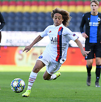 20191022 – OOSTENDE , BELGIUM : PSG's Xavi Simons pictured during a soccer game between Club Brugge KV and Paris Saint-Germain ( PSG )  on the third matchday of the UEFA Youth League – Champions League season 2019-2020 , thuesday  22 th October 2019 at the Versluys Arena in Oostende  , Belgium  .  PHOTO SPORTPIX.BE   DAVID CATRY
