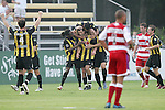 7 August 2007: Charleston teammates congratulate Stephen Armstrong (center) after he opened the scoring with a goal in the 17th minute. FC Dallas of Major League Soccer defeated the Charleston Battery of the United Soccer League first division 2-1 after extra time in a quarterfinal match of the 2007 US Open Cup tournament at Blackbaud Stadium in Charleston, SC...