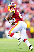Landover, MD - November 4, 2018: Washington Redskins running back Adrian Peterson (26) runs the football during game between the Atlanta Falcons and the Washington Redskins at FedEx Field in Landover, MD. The Falcons defeated the Redskins 38-13. (Photo by Phillip Peters/Media Images International)