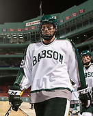 Charlie Ackerman (Babson - 9) - The UMass Boston Beacons defeated the Babson College Beavers 5-1 on Thursday, January 12, 2017, at Fenway Park in Boston, Massachusetts.