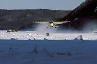 Cessna 206 Skiplane Taking Off Yukon River @ Ruby Iditarod 1985