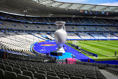 10.07.2016. Stade de France, Paris, France. European 2016 Football Championships, final. Portugal versus France.  The stadium is readied for the final match