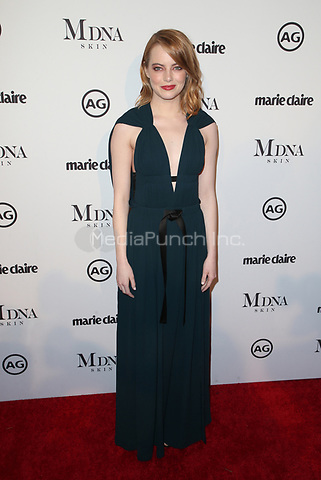 WEST HOLLYWOOD, CA - JANUARY 11: Emma Stone at Marie Claire's Third Annual Image Makers Awards at Delilah LA in West Hollywood, California on January 11, 2018. Credit: Faye Sadou/MediaPunch