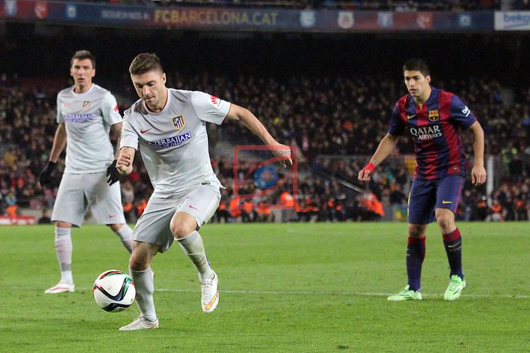 Copa del Rey 2014/2015. 1/4 Final Ida.<br /> FC Barcelona vs Atletico de Madrid: 1-0.<br /> Siqueira.