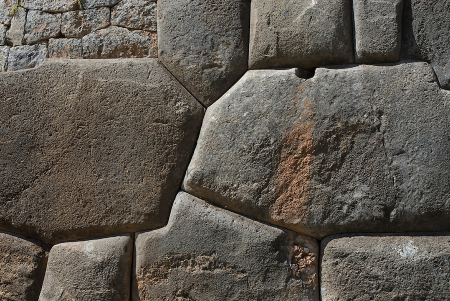The Inca are known for the precise shaping and placing of rocks in their structures, as shown in the archeological sites at Sacsayhuaman, outside of Cusco.