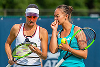 Rosmalen, Netherlands, 11 June, 2019, Tennis, Libema Open, Womans doubles: Lesley Kerkhove (NED) and Bibiane Schoofs (NED) (L)<br /> Photo: Henk Koster/tennisimages.com