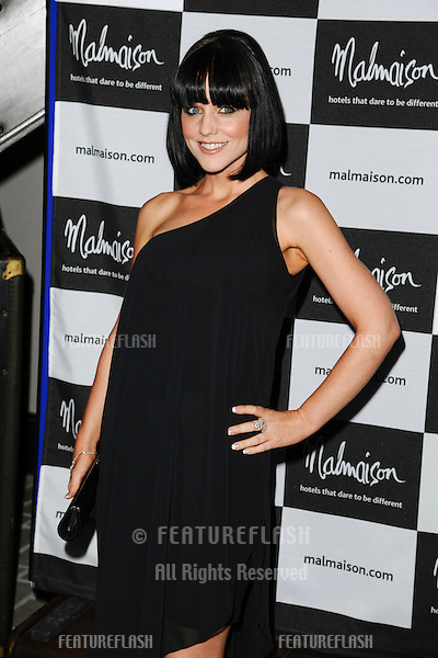 Stephanie Wearing arrives for the Malmaison Hotel Liverpool re-opening party...23/09/2011  Picture by Steve Vas/Featureflash