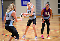 13.12.2017 Michaela Sokolich-Beatson in action during traning at the Silver Ferns trails in Auckland. Mandatory Photo Credit ©Michael Bradley.