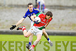 Brian McGuire Kerry in action against Jason Doherty Mayo in the National Football League in Austin Stack Park on Sunday..
