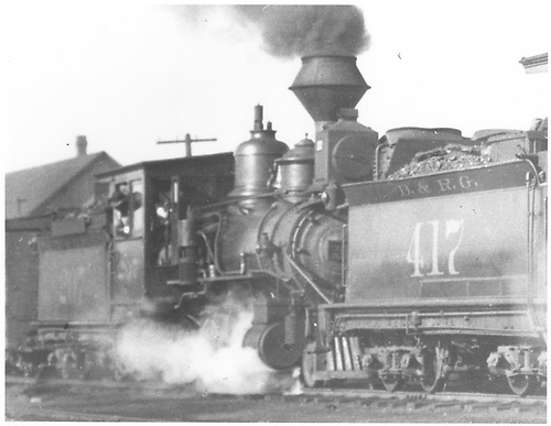 Engine #207 behind #417 on a freight.<br /> D&amp;RG