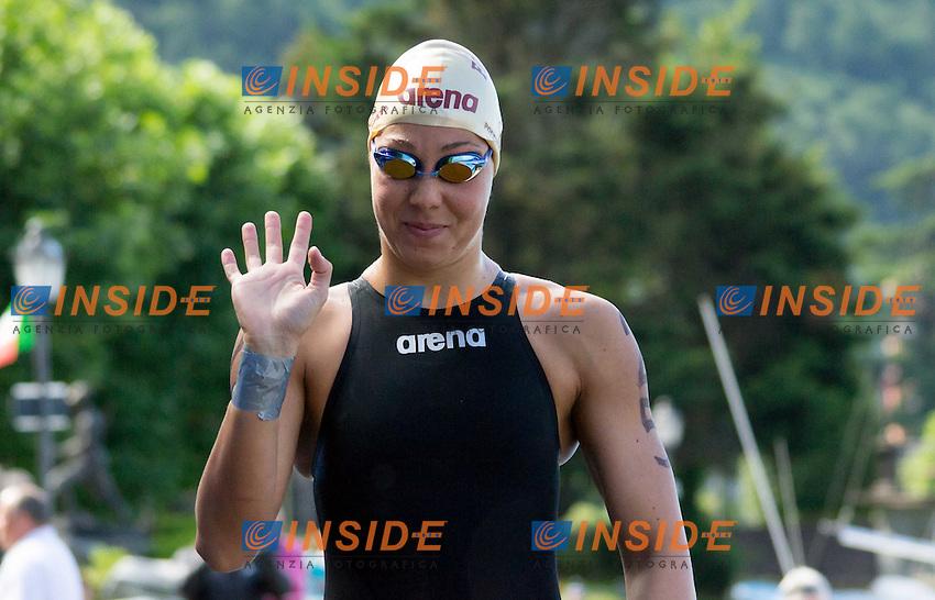 Aurora Ponsele Fiamme Oro<br /> 10 km donne<br /> Omegna (Verbania), Lago D'Orta<br /> FIN 2016 Campionato Italiano Assoluto Nuoto di Fondo <br /> <br /> Day 02 11-06-2016<br /> Photo Laura Binda/Deepbluemedia/Insidefoto