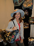 """Jacklyn Zeman """"Bobbie Spencer"""" - General Hospital wearing a Jane Elissa hat and shows off her bag as she raises money for Leukemia and Cancer Research. (Photo by Sue Coflin/Max Photos)"""