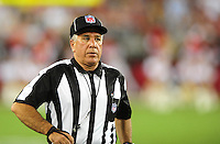 Aug. 22, 2009; Glendale, AZ, USA; NFL referee Kirk Dornan during the game between the Arizona Cardinals against the San Diego Chargers during a preseason game at University of Phoenix Stadium. Mandatory Credit: Mark J. Rebilas-