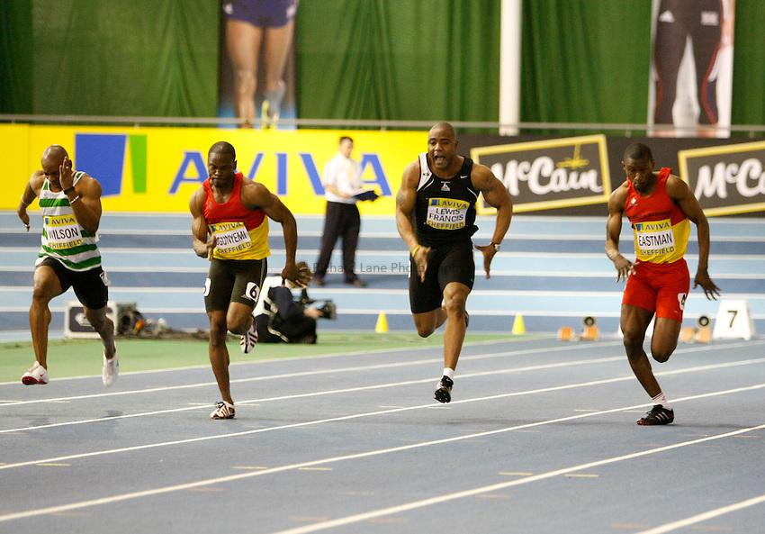Photo: Richard Lane/Richard Lane Photography. Aviva World Trials & UK Championships. 13/02/2010. Men's 60m heat.