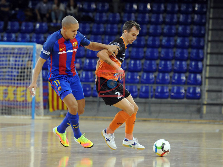 League LNFS 2016/2017 - Game 6.<br /> FC Barcelona Lassa vs Aspil Vidal Ribera Navarra: 7-1.<br /> Ferrao vs David.