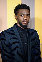 LONDON, ENGLAND - FEBRUARY 8: Chadwick Boseman arrives at the 'Black Panther' European premiere at the Eventim Apollo, on February 8th, 2018 in London, England. <br /> CAP/JC<br /> &copy;JC/Capital Pictures