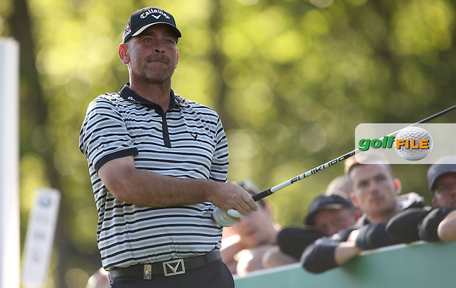 Thomas BJORN (DEN) drives the 17th during Round One of the 2015 BMW PGA Championship over the West Course at Wentworth, Virginia Water, London. 21/05/2015Picture David Lloyd, www.golffile.ie.
