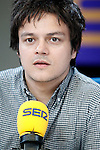 The English singer, composer and pianist of pop and jazz Jamie Cullum during his interview on Spanish radio program 'La Ventana' (The Window) from the Cadena SER.May 28,2013. (ALTERPHOTOS/Acero)
