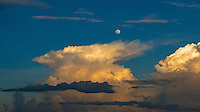 Storm Cloud and full Moon over Manila, Philippines