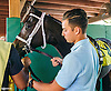 Andre Stock, assistant to J. Larry Jones at Delaware Park on 9/22/16