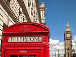 Red Phone Box and Big Ben, London, UK