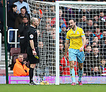 Crystal Palace's Glenn Murray gets sent off<br /> <br /> Barclays Premier League - West Ham United  vs Crystal Palace  - Upton Park - England - 28th February 2015 - Picture David Klein/Sportimage