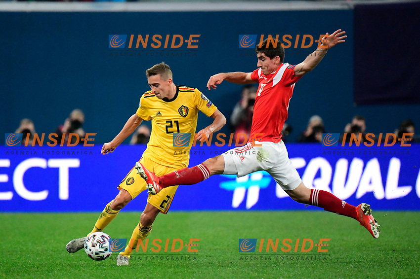 Timothy Castagne defender of Belgium  <br /> Saint Petersbourg  - Qualification Euro 2020 - 16/11/2019 <br /> Russia - Belgium <br /> Foto Photonews/Panoramic/Insidefoto <br /> ITALY ONLY