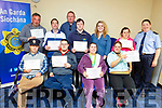 Students from St John of Gods Tralee receive Streetwise Programme certificates in the Garda Station in Tralee on Friday. <br /> Seated l-r, Jimmy Moore, Richard O&rsquo;Halloran, Deirdre O&rsquo;Leary and Sinead Downes.<br /> Back l-r, Shane Savage, Anthony O&rsquo;Connor, Cormac Galvin, Philip Fitzmaurice, Sarah O&rsquo;Halloran, Siobhan Quirke and Gda Cathy Murphy.