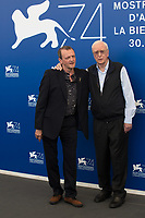 Michael Caine, David Batty at the &quot;My Generation&quot; photocall, 74th Venice Film Festival in Italy on 5 September 2017.<br /> <br /> Photo: Kristina Afanasyeva/Featureflash/SilverHub<br /> 0208 004 5359<br /> sales@silverhubmedia.com