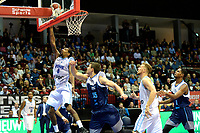 GRONINGEN - Basketbal, Donar - Pristina, voorronde Champions League, seizoen 2018-2019, 22-09-2018,  score Donar speler Jason Dourisseau