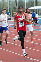Raytown South High School junior Quincy Hall runs to victory in the 400-meters in 48.29 at the 2015 Kansas Relays in Lawrence, Ks. Friday, April 17.
