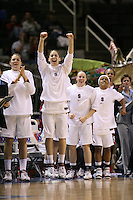 5 March 2007: Jayne Appel, Michelle Harrison, Clare Bodensteiner, Markisha Coleman and Rosalyn Gold-Onwude during Stanford's 62-55 win over ASU in the finals of the women's Pac-10 tournament championship at HP Pavilion in San Jose, CA.