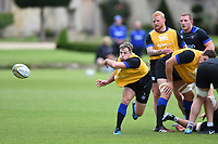 Darren Allinson of Bath Rugby passes the ball. Bath Rugby pre-season training session on July 28, 2017 at Farleigh House in Bath, England. Photo by: Patrick Khachfe / Onside Images