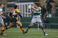 Jordy REID of Ealing Trailfinders (right) during the Championship Cup match between Ealing Trailfinders and Richmond at Castle Bar , West Ealing , England  on 15 December 2018. Photo by David Horn.
