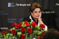 NEW YORK, EUA, 14.04.2017 - DILMA-NEW YORK - A ex presidente da república Dilma Rousseff durante forum que discute o ataque a democracia e os direitos humanos no Brasil no The Murphy Institute em New York nesta sexta-feira, 14. (Foto: William Volcov/Brazil Photo Press)