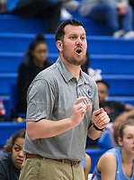 NWA Democrat-Gazette/BEN GOFF @NWABENGOFF<br /> Robert Brunk, Fort Smith Southside head coach, during the game vs Rogers Tuesday, Nov. 26, 2019, at King Arena in Rogers.